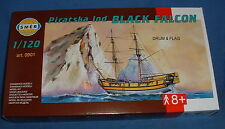 "SMER 901 - PIRATE SHIP. ""BLACK FALCON"" 1:120 SCALE PLASTIC KIT.  25CM LONG HULL"