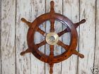 "13"" Wood / Brass Ships Wheel ~ Wooden ~ Pirate Captain ~ Nautical Maritime Decor"