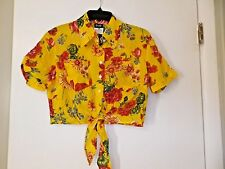 D&G Dolce & Gabbana ITTIERRE MADE IN ITALY TIE AT BOTTOM/BUTTON DOWN BLOUSE NWOT
