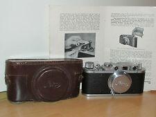 Leica II - Leitz - Chrom 1939 - Objektiv Elmar f=5cm 1:3,5  mit Tasche