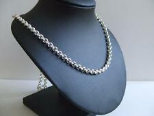 Heavy Sterling Silver Chain Large 5mm Belcher 24 Inch Long 44Gram Necklace Chain