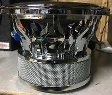 "New Old School Audiobahn AW1008T 10"" Dual 2 Ohm Flame Subwoofer,Rare,W/ Grill"