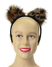 FELINE FANTASY #LEOPARD WILD CAT CATWOMAN FAKE FUR EARS FANCY PARTY ACCESSORY