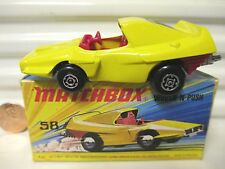 LESNEY MATCHBOX MB58B YELLOW WOOSH-N-PUSH #2 Label Red Seats MINT in Excnt BOX*