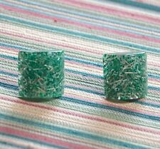 Vintage lucite confetti screw back earrings - 1940's - Gionchi - made in Italy