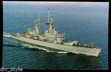 USS Biddle CG-34 postcard US Navy Guided Missile Cruiser warship