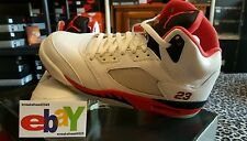 Nike Air Jordan 5 Retro 6/7/06 WHITE/FIRE RED-BLACK 136027 162 2006