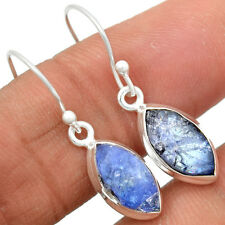 Tanzanite Rough 925 Sterling Silver Earrings Jewelry TZRE50
