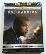 CONCUSSION 4K ULTRA HD BLU RAY 2 DISC SET FREE WORLD WIDE SHIPPING UHD WILL SMIT