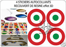 ITALIE Force Aérienne Avion Cocarde 50mm Sticker Autocollant X4 en resine