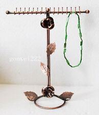 New necklace & bracelet 32 hooks , Copper color display stand rack holder