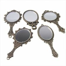 5x Assorted 5 Styles Retro Bronze Alloy Mirror Pendant Jewelry Handmade Charms J