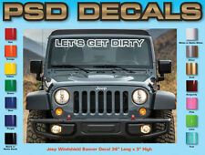 Jeep Decals Jeep Windshield Banner Decal Sticker Wrangler Rubicon Sahara W-21