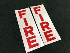 "2 Gamewell part 25355 ""F I R E"" Alarm STICKER DECAL Scotchlite Reflective fire"