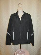 Long Sleeve Light Lined Jacket MD Gap Fit Black Gray trims NWT