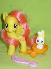 G4 My Little Pony 2010 FiM Wave 1 Brushable Single FLUTTERSHY w/Pet Bunny &Wagon
