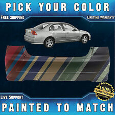 NEW Painted to Match - Rear Bumper Cover For 2004 2005 Honda Civic Sedan/Hybrid