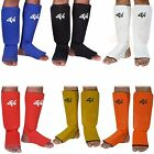 4Fit Shin Instep Protectors, Guards Pads Boxing, MMA, Muay Thai S,M, L, XL