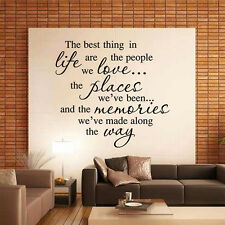 BEST LIFE DIY Removable Art Vinyl Quote Word Wall Sticker Decal Home Room Decor