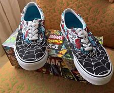 RARE�� VANS x Marvel Comics Spiderman Era Low Top Trainers Sz 10 Men's Black Web