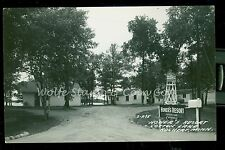 1940's RPPC Honer's Resort Cotton Lake Rochert MN Real Photo Postcard   B795