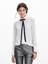 NWT Banana Republic Contrast Tie-Front Blouse, Cocoon SIZE S