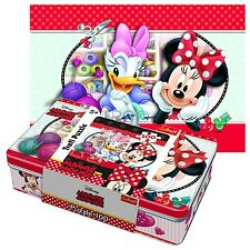 Trefl 100 Gift Tin Box Girls Disney Minnie Mouse Craft Club Jigsaw Puzzle NEW