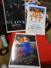 Great set  3 MOVIE Posters-Sex & the City-Singin in the Rain-Harry Potter...SALE