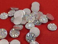 25 Glitzersteine  Silber Irisierend  10 mm   NO hot fix