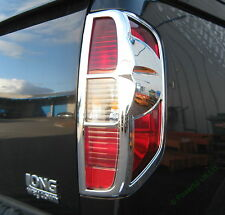 Chrome Rear Light Surround Trim for Nissan Navara D40 Double Cab Tail Lamp 2005