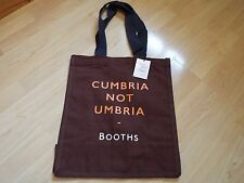 NEW Booths Collector's Edition Cloth Tote Shopping bag 'Cumbria not Umbria'