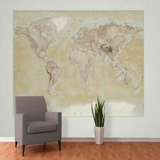 1 WALL GIANT PHOTO WALLPAPER NEUTRAL MAP ATLAS POSTER BEDROOM MURAL 2.32 x 1.58m