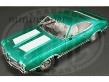 ACME A1805602 1972 72 OLDSMOBILE 442 W30 1/18 DIECAST RADIANT GREEN