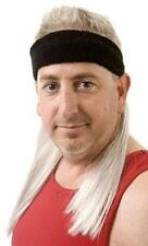 The Silverfox Black Headband with attached Silver Mullet Hair