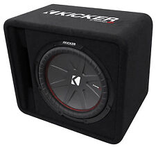 "Kicker 43VCWR122 COMP12 12"" 1000W Car Audio Subwoofer+Vented Sub Box Enclosure"