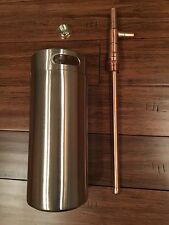Alcohol Distiller Moonshine Thumper Stainless Steel 2 Liter Keg Growler