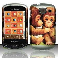Design Rubberized Hard Case for Samsung Brightside U380 - Cute Monkey
