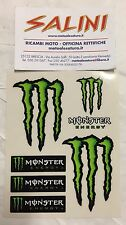 Adesivo MONSTER Energy ( kit da 6 pezzi )   - Sticker KAWASAKI KTM HONDA ROSSI