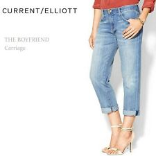 Current Elliott SZ 28 The Boyfriend Relaxed Loose Fit Jeans Loose Cropped Fit