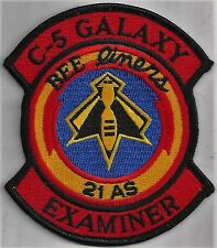 USAF 21st AIRLIFT SQ EXAMINER PATCH-   'C-5 GALAXY'             COLOR