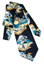 Necktie Cartoon Character LOONEY TUNES Playing GOLF Rene Chagal TIE 100% Silk