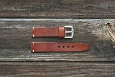 Handmade Vintage Ammo Style Leather Strap Band 18 - 24 mm