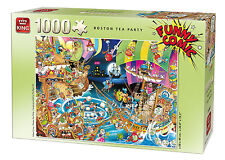 NEW! King Funny Comic - Boston Tea Party 1000 piece cartoon jigsaw puzzle