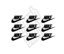 9 x Nike vinyl sticker decal iphone car (window optional) hoodie mini small logo
