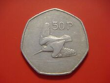 IRELAND / EIRE / IRISH 50 PENCE  FIFTY PENCE  1982 VERY SCARCE YEAR Low Mintage