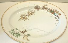 Fitz and Floyd St. Nicholas  - 14.5 inch platter Santa and Reindeer Sled