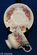 "Paragon English Footed Fine Bone China Teacup & Saucer Duo  FLOWER FESTIVAL ""L"""