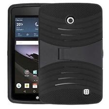 For LG G PAD F 7.0 LK430 Shockproof Armor Hybrid Stand Hard Box Case Cover Black