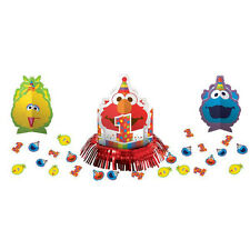 SESAME STREET Elmo Turns One TABLE DECORATING KIT (23pc) ~ Birthday Party Supply