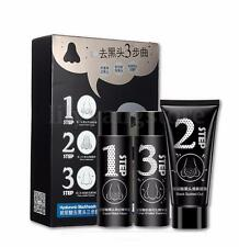MY SCHEMING Face Nose Mask Blackhead Acne Removal Activated Carbon 3 Steps Set